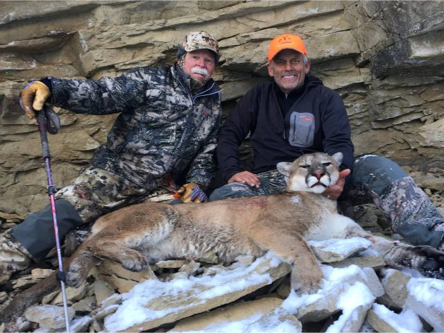 scott and red with mountain lion